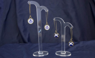 Long Thistle and Cross Earrings