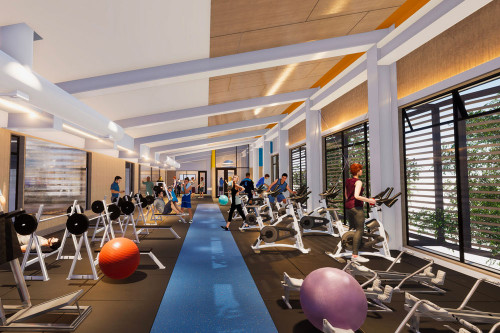 STAC Fitness Centre Perspective