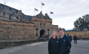 Emily and Omri at Edinburgh Castle.