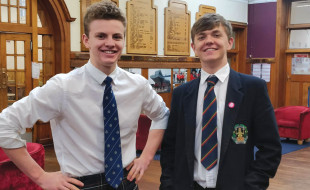 Omri Kepes (left) with a fellow student at Queen Victoria School.