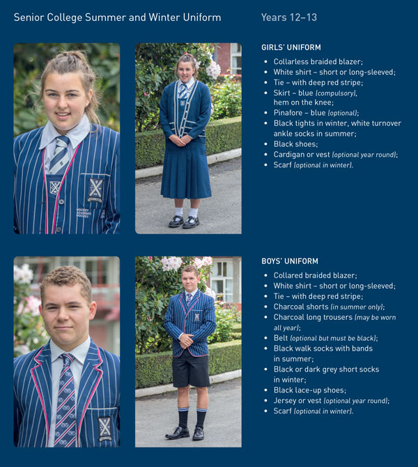 Senior College Uniform