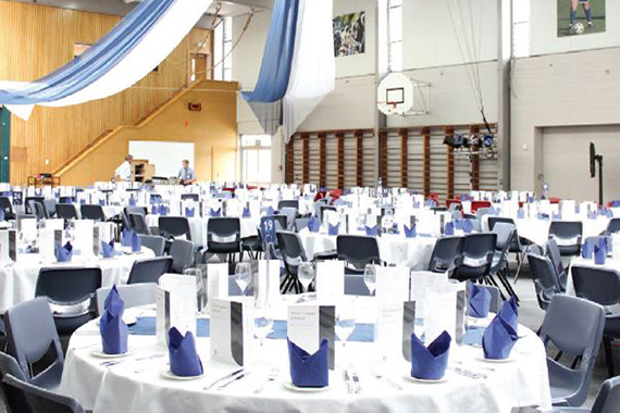 StAC The Events Committee transform the Gymnasium every year for Leavers Dinner